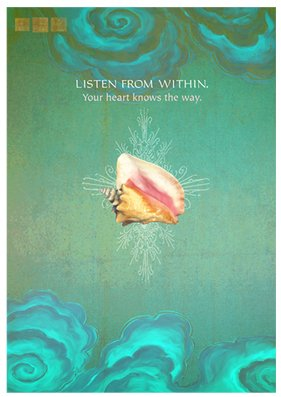 """""""Listen From Within. Your Heart Knows the Way"""" Art Print"""
