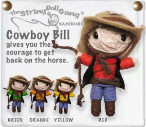 """Cowboy Bill"" String Doll, The Original String Doll Gang"