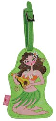 Pin Up Hula Girl Luggage Tag