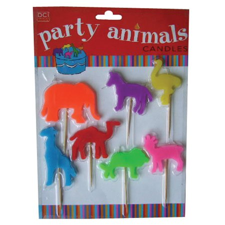 Set of Seven Animal Shaped Candles