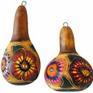 Hand Carved and Painted Gourd Ornament