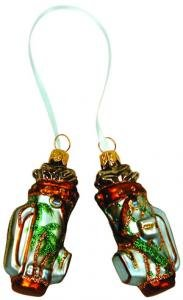 Hand Blown Glass Ornament, Tropical Print Golf Bags