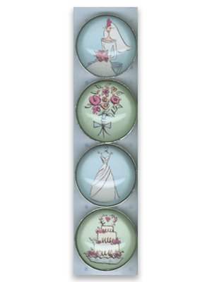 Set of Four Wedding Magnets