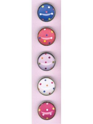 Set of Five Polka-Dot Magnets