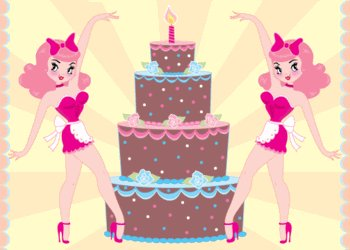 Pin Up Birthday Cake Card