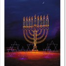 Menorah in Lights, Hanukkah Card