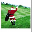 Golfing Santa Christmas Card