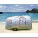 Holiday Trailer on Beach Card