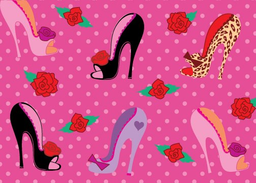 Pin Up Shoes Birthday Card