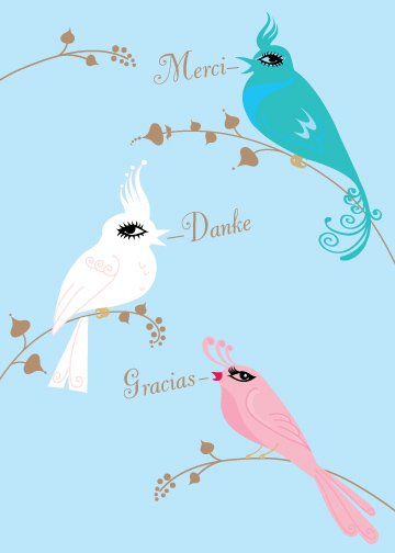 Three Little Birds, Thank You Card