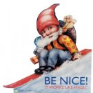 """Be Nice"" Elf Poster"