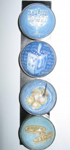 Set of Four Hanukkah Magnets