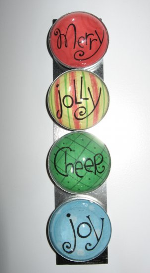 Set of Four Christmas Word Magnets