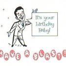 Happy Birthday Card ~ Retro Man