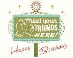 Happy Birthday Card ~ Road Sign