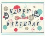 Happy Birthday Card ~ Space Cadet