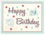 Happy Birthday Card ~ Sun and Bathing Beauty