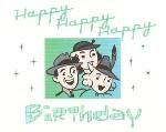 Happy Birthday Card ~ Crowd