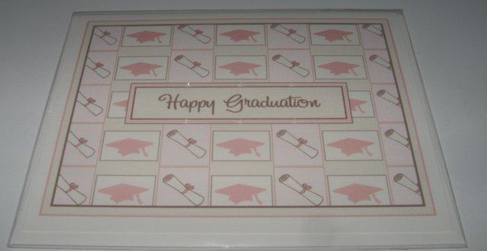 Graduation Card ~ Diplomas and Caps