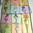 Set of Ten Flowers and Drinks Magnets