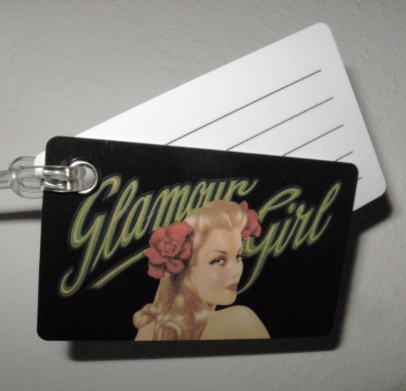 "Double Sided Luggage Tag ~ ""Glamor Girl"""