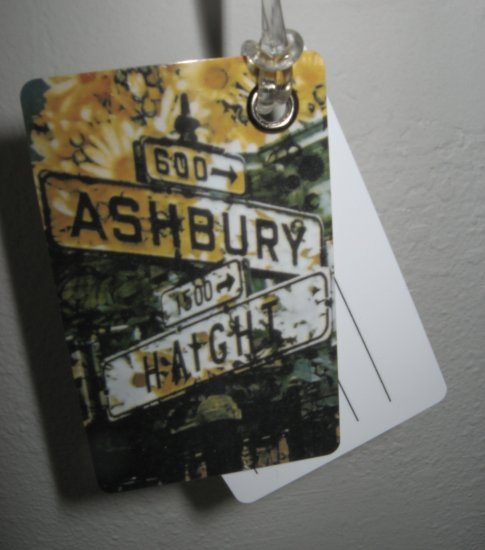 Double Sided Luggage Tag ~ Haight Ashbury Street Signs