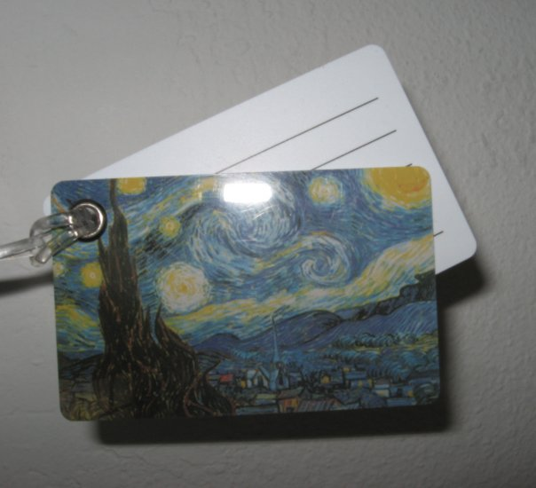 Double Sided Luggage Tag ~ Starry Night