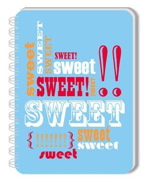 """Sweet"" Print Blank Journal"