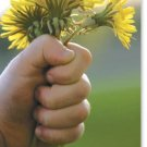 Mother's Day Card ~ Hand Holding Dandelions