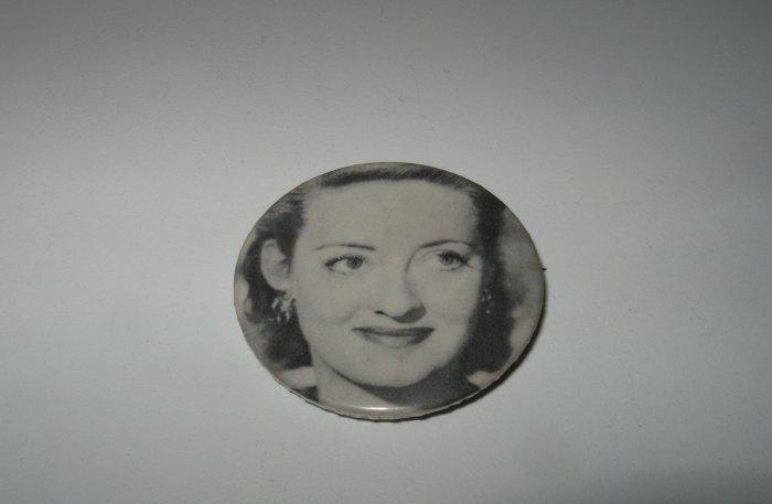 Vintage Betty Davis Black and White Pin