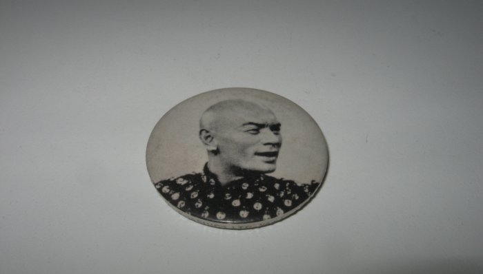 Vintage Yul Brynner Black and White Pin
