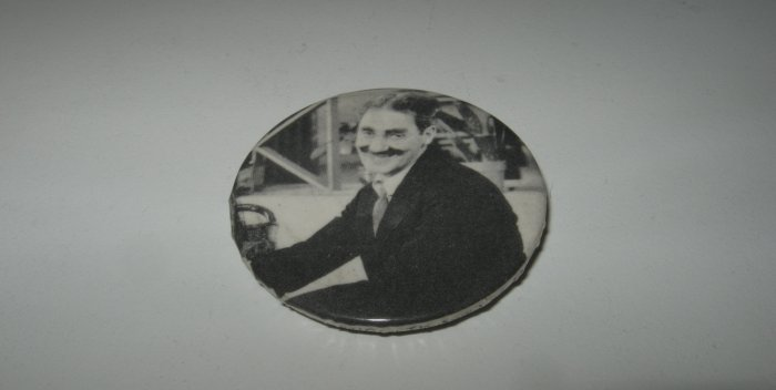 Vintage Groucho Marx Black and White Pin