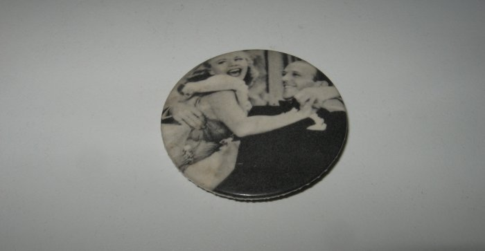 Vintage Fred Astair and Ginger Rogers Black and White Pin
