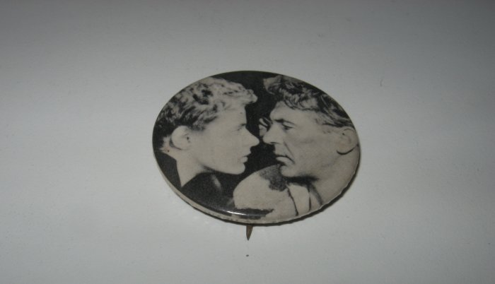 Vintage Ingrid Bergman, Richard Burton Black and White Pin