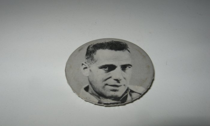 Vintage Humphrey Bogart Black and White Pin