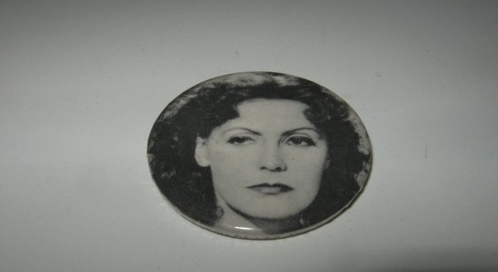 Vintage Greta Garbo Black and White Pin