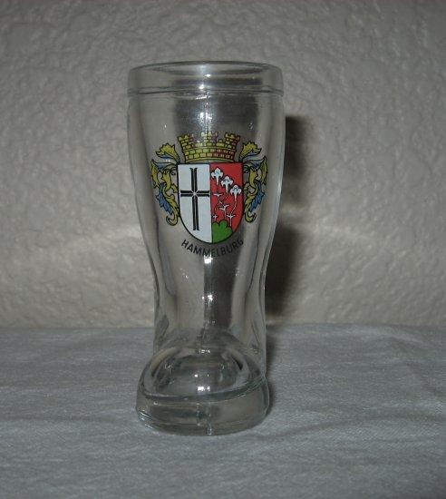 """Hammelburg"" Seal Print on Clear Glass Boot"