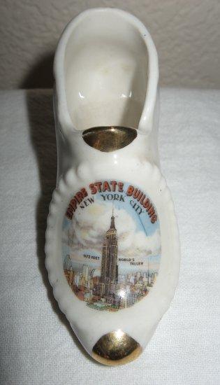Retro Empire State Building Souvenir Glass Shoe