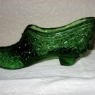 Green Glass Daisy and Button Slipper