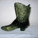 Green Daisy and Button Boot