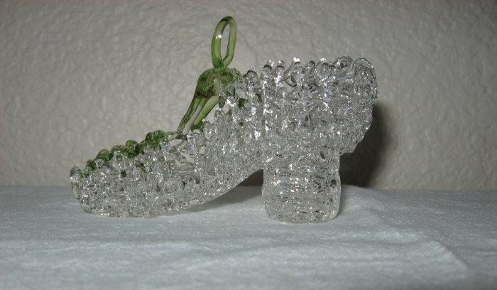 Drizzle Design Clear Glass Shoe