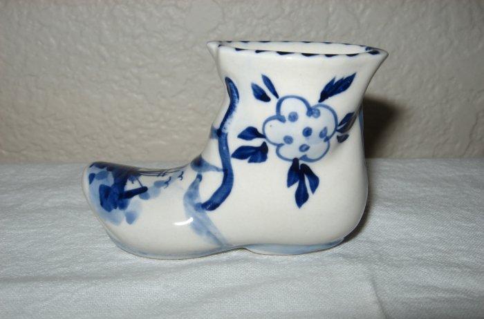 Ceramic Hand Painted Dutch Boot.