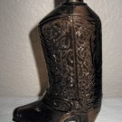 Brown Glass Cowboy Boot Avon Bottle, no Lid