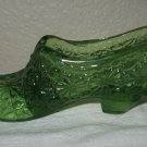 Green Glass Daisy and Button Slipper.