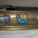 Beautifully Decorated Bronze Chinese Ashtray Slipper.
