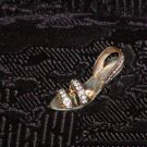 Miniature Metal Women's Slipper w/Rhinestones