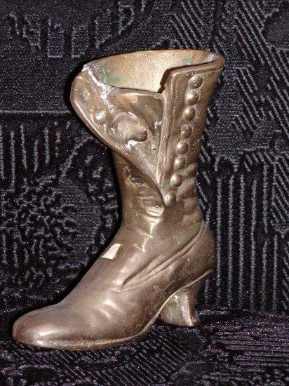 Brass Hi-Top Button Shoe.