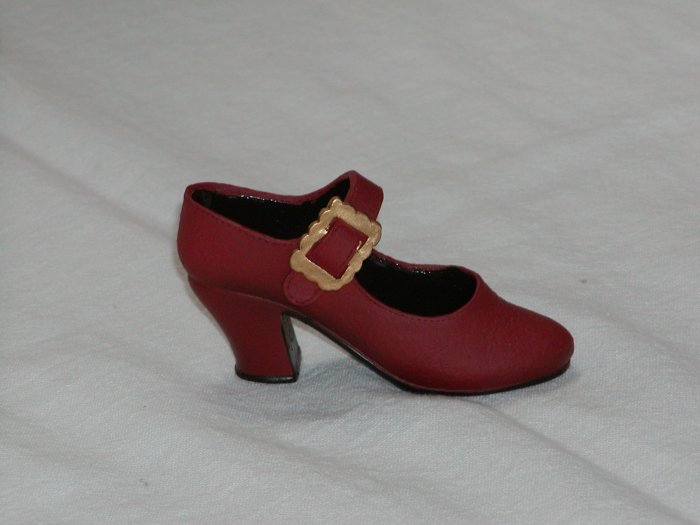 Miniature Red Shoe with Gold Buckle