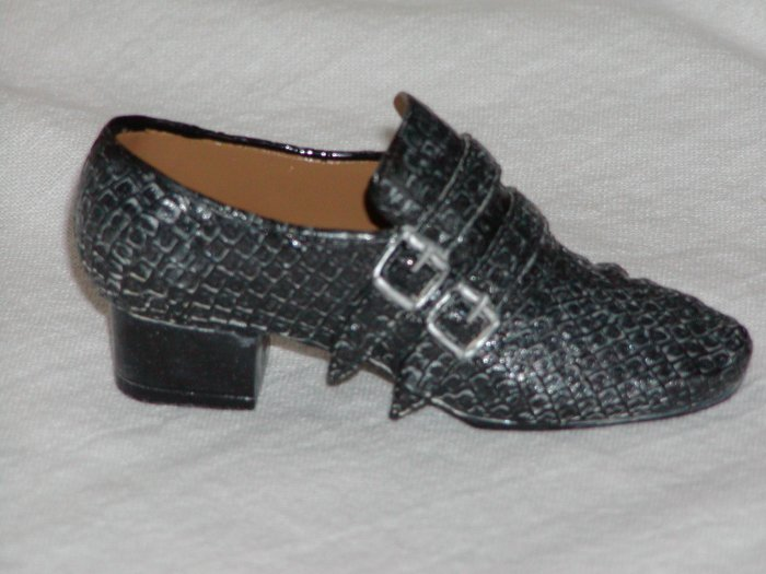 Men's Miniature Black Buckled Shoe