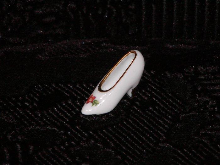 Limoges Miniature Bone China Shoe (France).